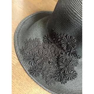 アンテプリマ(ANTEPRIMA)のアンテプリマ ペーパーハット 帽子 黒 レース新品 アシーナニューヨーク(ハット)