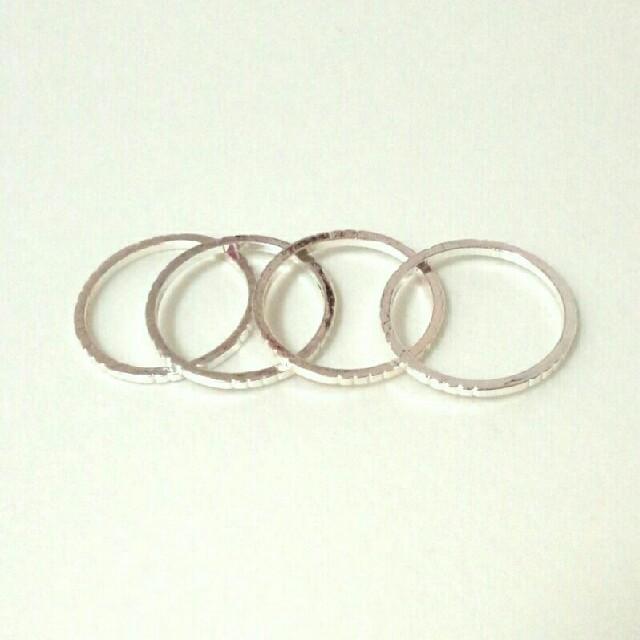 H&M(エイチアンドエム)のH&M リング 4連 ピンキー レディースのアクセサリー(リング(指輪))の商品写真