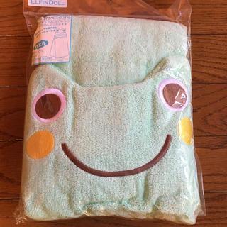 ニシマツヤ(西松屋)のフード付きバスタオル  カエル🐸(タオル/バス用品)