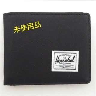 HERSCHEL - HERSCEL 二つ折り財布 黒