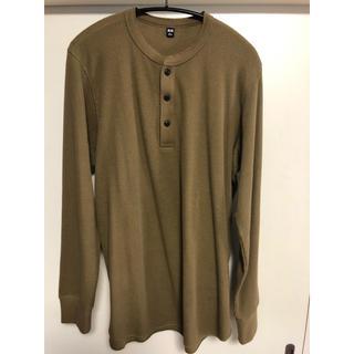 ユニクロ(UNIQLO)のワッフルヘンリーネックT(Tシャツ/カットソー(七分/長袖))