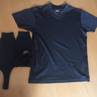 ゼット(ZETT)のティカ様専用 半袖 丸首 アンダーシャツ 130 黒 と靴下セット(ウェア)