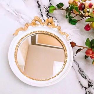 ミラートレイ アクセサリートレイ 鏡 ミラー ホワイト イタリア