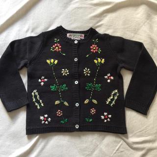 ボンポワン(Bonpoint)の新品タグ付き♡ボンポワン 刺繍カーディガン 2a(カーディガン)