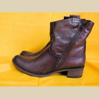 カルロロセッティ CARLO ROSSETTI ショートブーツ 濃茶 27cm(ブーツ)