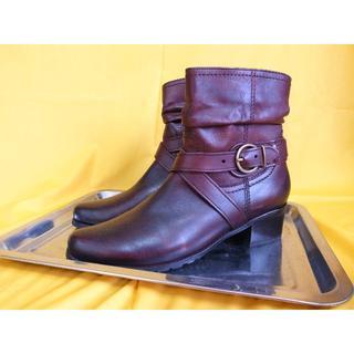 シエスタ Ciesta ベルトモチーフショートブーツ 濃茶 26.5cm(ブーツ)