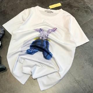 ステラマッカートニー(Stella McCartney)のSTELLA MCCARTNEY  ホワイトTシャツ 男女兼用 M   (Tシャツ/カットソー(半袖/袖なし))