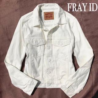 FRAY I.D - 爽やか デニムジャケット Gジャン 白 ホワイト コットン100 綿 春夏物