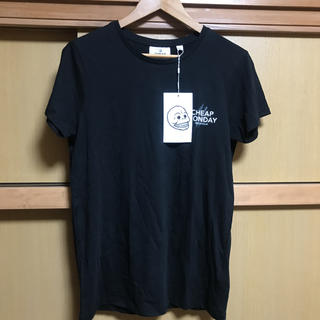 チープマンデー(CHEAP MONDAY)の新品未使用 cheap monday チープマンデー ブラック 黒 tシャツ(Tシャツ/カットソー(半袖/袖なし))