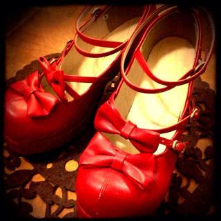 ボディライン(BODYLINE)の赤おでこ靴★(ハイヒール/パンプス)