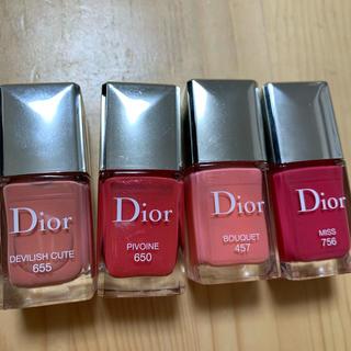 クリスチャンディオール(Christian Dior)のmii&yuu様専用 Dior ヴェルニ ネイル 4本セット(マニキュア)