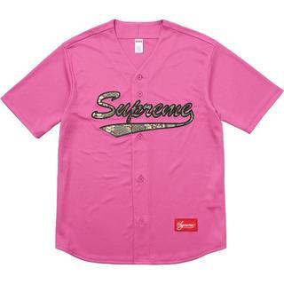 シュプリーム(Supreme)のSupreme Snake Script Logo ベースボールジャージー(その他)