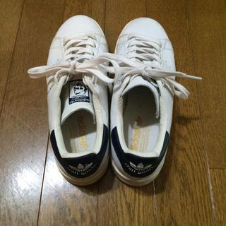 アディダス(adidas)の美品 スタンスミス ネイビー24.5 aq4651 zozo購入(スニーカー)