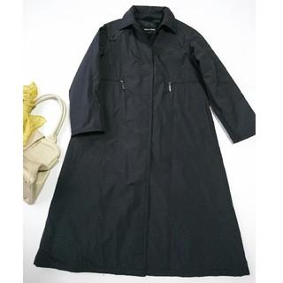 newest c2987 88eb6 【美品】アルマーニ 価格27万 春秋物 上質ロングコート ブラック*グッチ