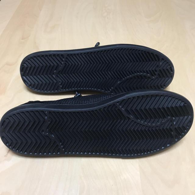 UNIQLO(ユニクロ)の【きいろいとり様専用】ユニクロ ニットライトスニーカー ブラック 27.0cm メンズの靴/シューズ(スニーカー)の商品写真