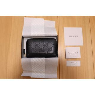 グッチ(Gucci)のグッチ GUCCI カードケース コインケース 黒(コインケース/小銭入れ)