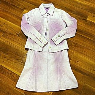 ヨンドシー(4℃)の4°C デニムマーメイドスカート セットアップ(ひざ丈スカート)