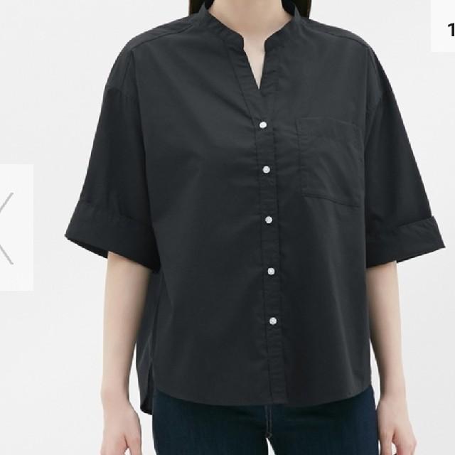GU(ジーユー)のワイドスリーブシャツ+ボーダーワンピース レディースのトップス(シャツ/ブラウス(半袖/袖なし))の商品写真