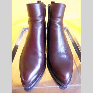カルロロセッティ CARLO ROSSETTI ショートブーツ 濃茶 26cm(ブーツ)