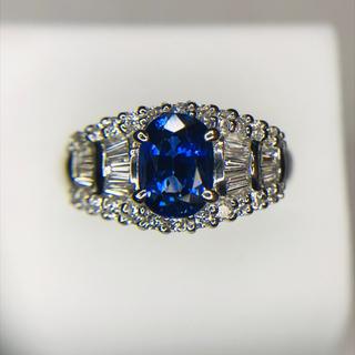 【LU様専用】プラチナ  大粒 ロイヤルブルー サファイア リング(リング(指輪))
