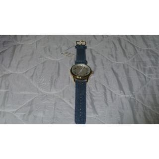 スリーフォータイム(ThreeFourTime)の新品未使用 threefourtime  サークルデニムベルト 腕時計(腕時計)