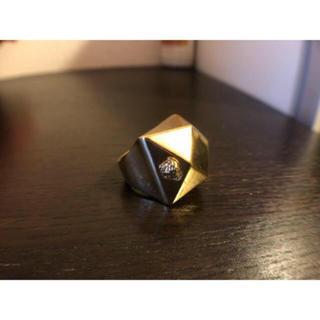 ヴェルサーチ(VERSACE)の【VERSACE/ヴェルサーチ】リング/ゴールド/大ぶり/ダイヤカット/正規品(リング(指輪))