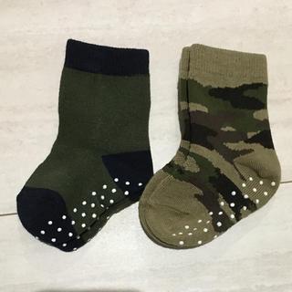 ユニクロ(UNIQLO)の9-12cmソックス 靴下 2足セット ユニクロ(靴下/タイツ)