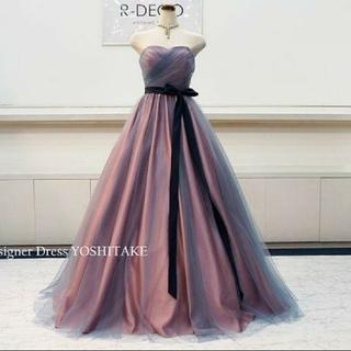 ウェディングドレス チュール ピンク(ウェディングドレス)