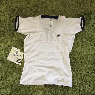 アディダス(adidas)のアディダス 半袖 白 スポーツ テニス ランニング 部活 レディース(その他)