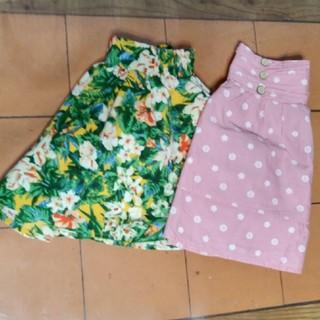 ジーユー(GU)の美品 GUキュロット&スカート2枚セット 120㎝女の子(スカート)