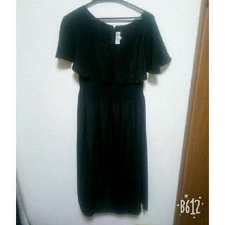 d293ee0951439 ハナエモリ(HANAE MORI)のHANAE MORI 黒シルクワンピース ドレス(ミディアムドレス)
