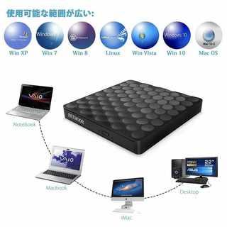只今♡令和セール中♡超スリム!USB 3.0 外付け DVD ドライブ (PC周辺機器)