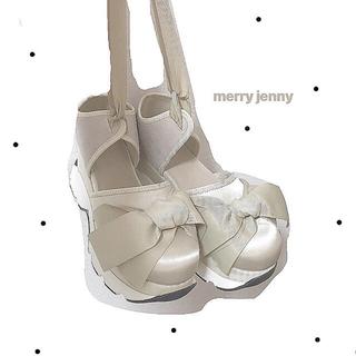 メリージェニー(merry jenny)のmerry jenny リボンシューズ (スニーカー)