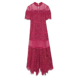 8669f1410283c スナイデル(snidel)のスナイデル 総レース ドレス snidel ワンピース 結婚式(ロングドレス