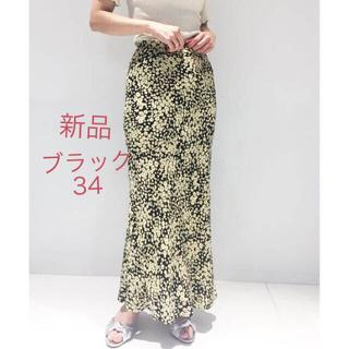 エディットフォールル(EDIT.FOR LULU)の新品 edit for lulu フラワーバイアスマキシスカート 黒34(ロングスカート)