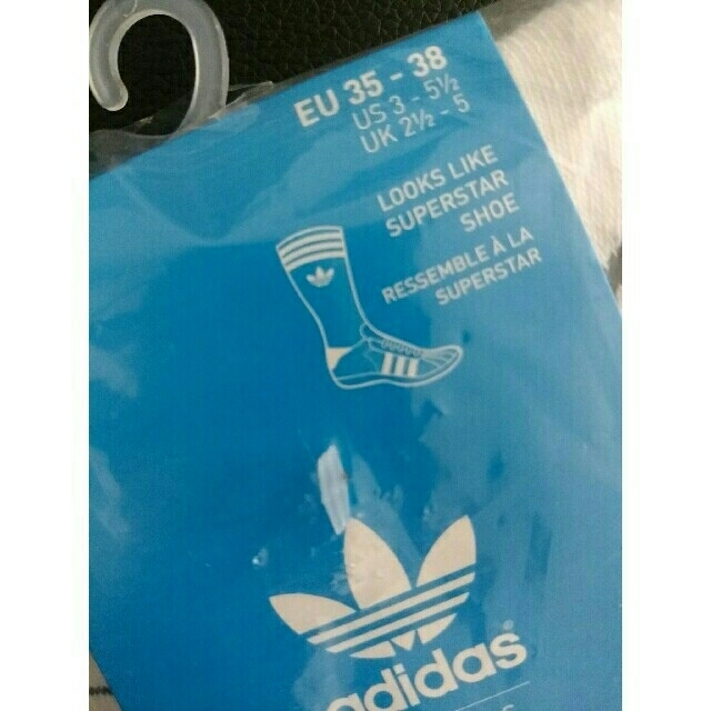 adidas(アディダス)のadidas☆superstar socks レディースのレッグウェア(ソックス)の商品写真