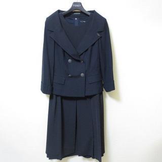 フォクシー(FOXEY)の美品 フォクシー 黒 ワンピース スーツ V991(スーツ)