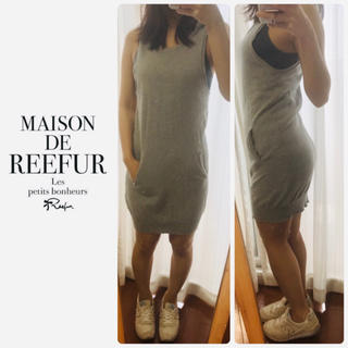 メゾンドリーファー(Maison de Reefur)のメゾンドリーファー  グレーニット ノースリーズ ワンピ(ミニワンピース)