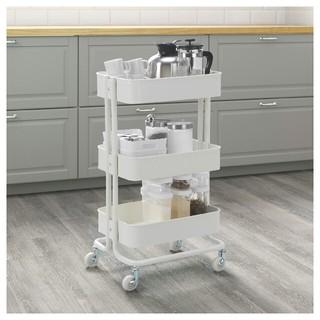 イケア(IKEA)のIKEA ロースコグ ワゴン ホワイト(キッチン収納)