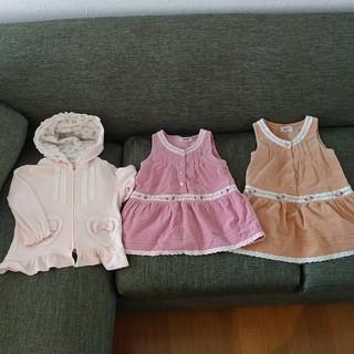 スーリー(Souris)の子供服 3点 80cm 90cm 95cm スーリー(ワンピース)