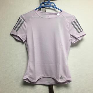 アディダス(adidas)の新品 adidas ランニング  Tシャツ パープル 再値下げ(Tシャツ(半袖/袖なし))