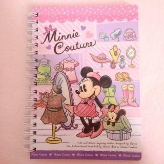 ミニーマウス(ミニーマウス)のミニークチュール リングノート ミニーマウス ぬいぐるみ ディズニー(ノート/メモ帳/ふせん)