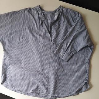 ジーユー(GU)のGU ストライプシャツ(シャツ/ブラウス(半袖/袖なし))