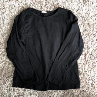 ジーユー(GU)のGU 黒ロンT 130(Tシャツ/カットソー)