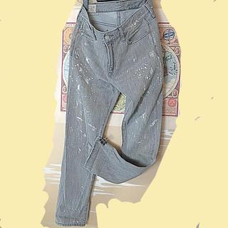 ポロラルフローレン(POLO RALPH LAUREN)のダメージ ペイント加工 柔らかいデニム テーパード ボーイフレンド(デニム/ジーンズ)