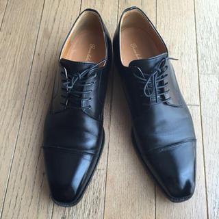 グリーンレーベルリラクシング(green label relaxing)の黒レザー メンズ ビジネスシューズ (ローファー/革靴)