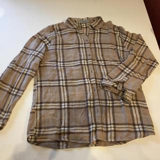 シマムラ(しまむら)のチェックシャツ ベージュ(シャツ/ブラウス(長袖/七分))