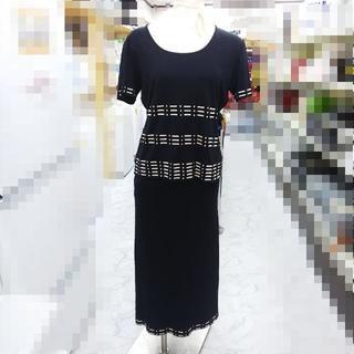 フェンディ(FENDI)のフェンディ セットアップ カットソー スカート 黒 d001(その他)