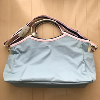 e02de36a3b24c1 アニエスベー(agnes b.)のアニエスベー ボストンバッグ 水色 ピンク 紺 未使用(