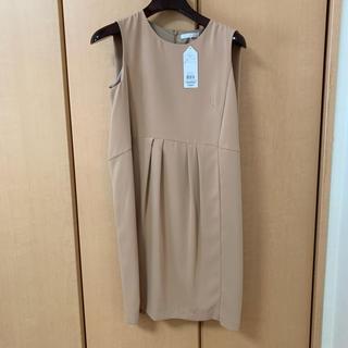 エージーバイアクアガール(AG by aquagirl)の新品 ワンピース キャメル 結婚式(ミディアムドレス)